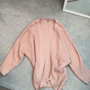Blush Waffle-knit Cardigan